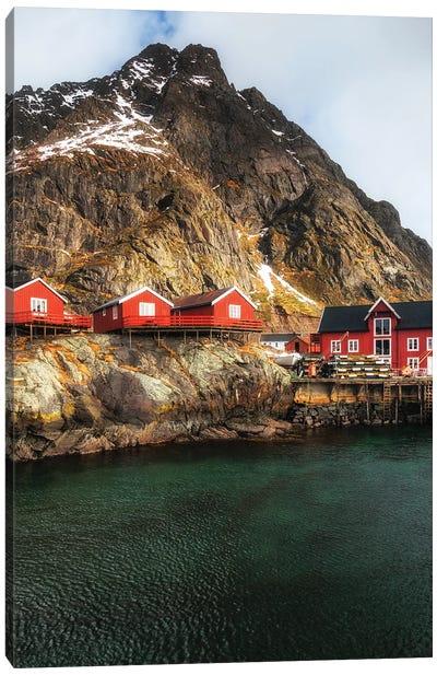 Fishermen's Cabins, Lofoten In Norway Canvas Art Print