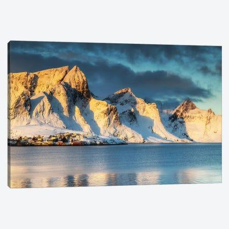 Sunrise In Reine, Lofoten In Norway Canvas Print #LAJ508} by Mikolaj Gospodarek Canvas Print