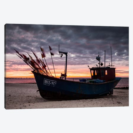 Poland, Baltic Sea, Fishing Boat Canvas Print #LAJ50} by Mikolaj Gospodarek Canvas Artwork