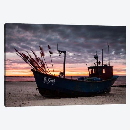 Poland, Baltic Sea, Fishing Boat Canvas Print #LAJ50} by Mikolaj Gospodarek Canvas Artwork