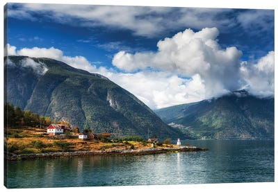 Fjord In Norway Canvas Art Print