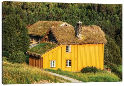 Norwegian House Canvas Art Print