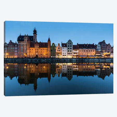 Poland, Gdansk, Motlawa River, Old Town Canvas Print #LAJ58} by Mikolaj Gospodarek Canvas Art