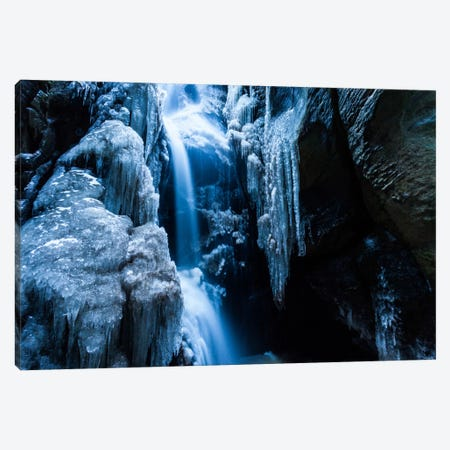 Czech Republic, Adršpach-Teplice Rocks, Waterfall With Ice Canvas Print #LAJ5} by Mikolaj Gospodarek Canvas Art Print