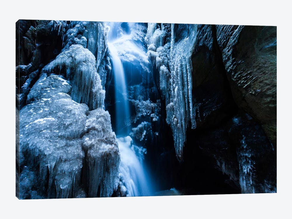 Czech Republic, Adršpach-Teplice Rocks, Waterfall With Ice by Mikolaj Gospodarek 1-piece Canvas Wall Art
