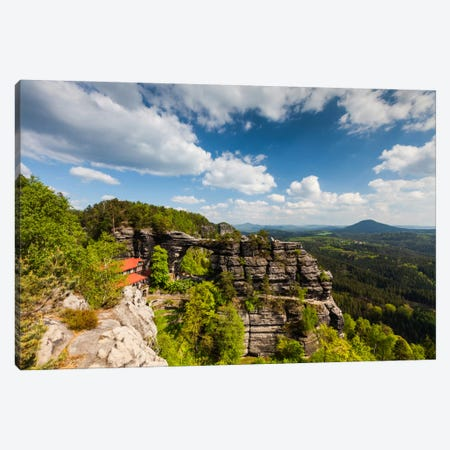 Czech Republic, Bohemian Switzerland, Prebischtor Gate Or Pravčická Brána Canvas Print #LAJ6} by Mikolaj Gospodarek Art Print