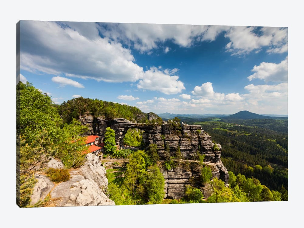 Czech Republic, Bohemian Switzerland, Prebischtor Gate Or Pravčická Brána by Mikolaj Gospodarek 1-piece Canvas Print