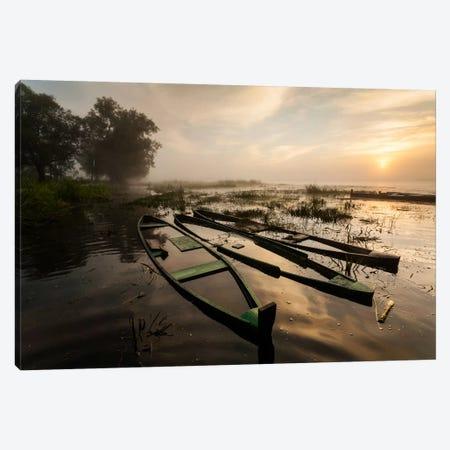 Poland, Podlaskie, Biebrza River, Sunrise I Canvas Print #LAJ76} by Mikolaj Gospodarek Canvas Print