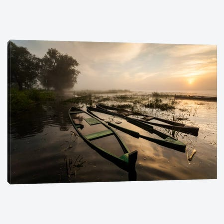 Poland, Podlaskie, Biebrza River, Sunrise I Canvas Print #LAJ76} by Mikolaj Gospodarek Canvas Print