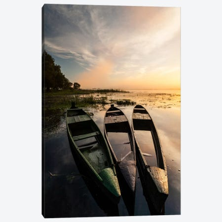 Poland, Podlaskie, Biebrza River, Sunrise II Canvas Print #LAJ77} by Mikolaj Gospodarek Canvas Art Print