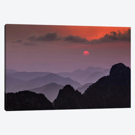 Poland, Tatra Mountains, Rysy, Sunset Canvas Print #LAJ82} by Mikolaj Gospodarek Art Print