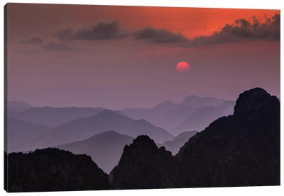 Poland, Tatra Mountains, Rysy, Sunset Canvas Art Print