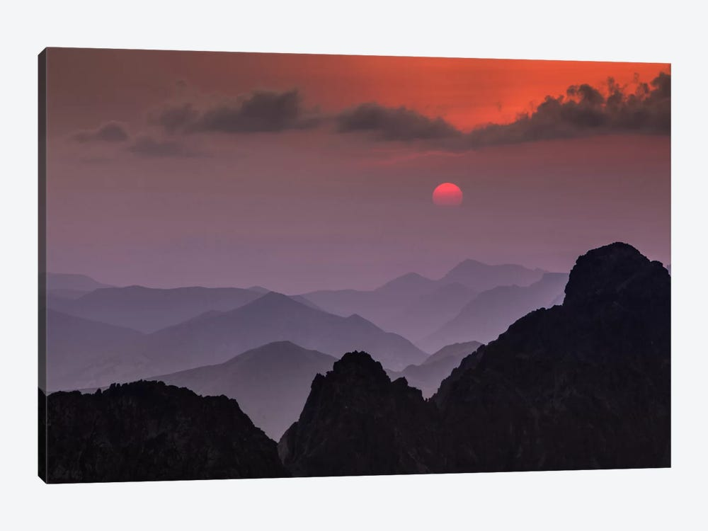 Poland, Tatra Mountains, Rysy, Sunset by Mikolaj Gospodarek 1-piece Canvas Artwork