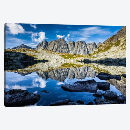 Slovakia, Tatra Mountains, Mountain Lake Canvas Print #LAJ84} by Mikolaj Gospodarek Canvas Wall Art