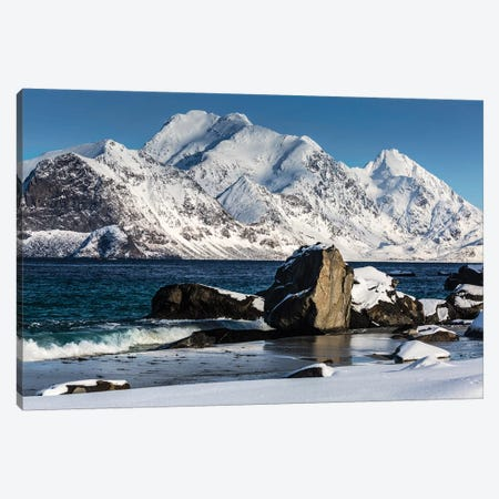 Norway, Lofoten, Myrland I Canvas Print #LAJ98} by Mikolaj Gospodarek Canvas Art
