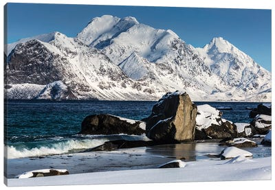 Norway, Lofoten, Myrland I Canvas Art Print