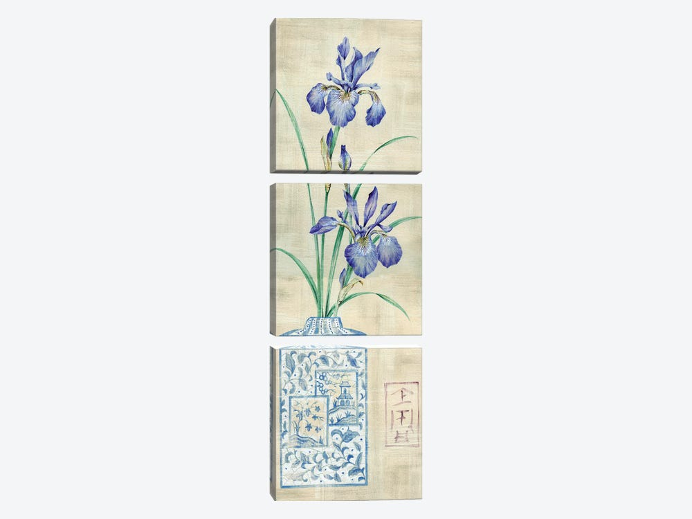 Asian Floral I by Claire Lake 3-piece Canvas Print