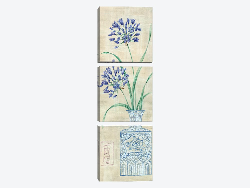 Asian Floral II by Claire Lake 3-piece Canvas Artwork