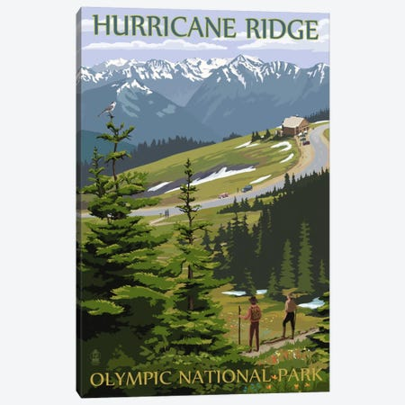 Olympic National Park (Hurricane Ridge) Canvas Print #LAN104} by Lantern Press Art Print