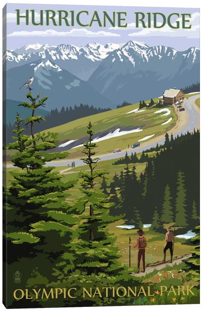 Olympic National Park (Hurricane Ridge) by Lantern Press Canvas Art Print