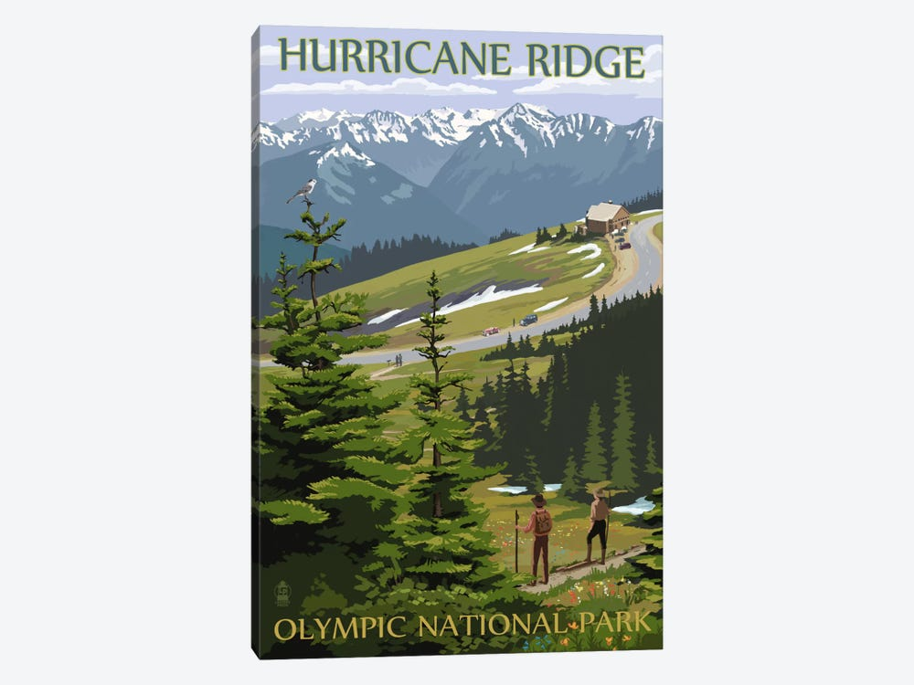 Olympic National Park (Hurricane Ridge) by Lantern Press 1-piece Canvas Wall Art