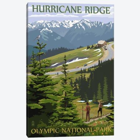 Olympic National Park (Hurricane Ridge) Canvas Print #LAN104} by Lantern Press Art Print