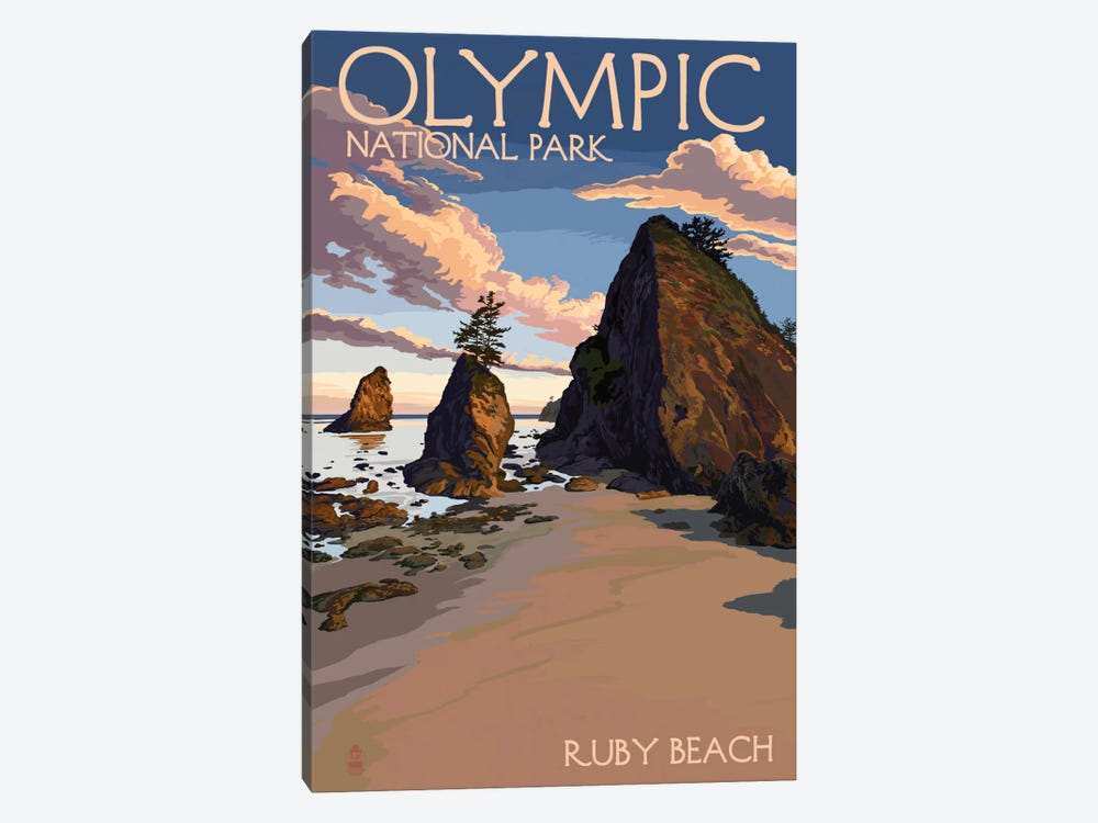 Olympic National Park (Ruby Beach) by Lantern Press 1-piece Canvas Art