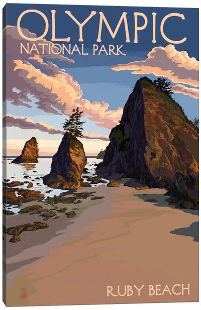 Olympic National Park (Ruby Beach) Canvas Art Print