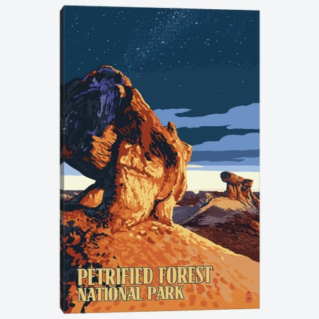 Petrified Forest National Park (Desert At Dusk) Canvas Print #LAN107} by Lantern Press Canvas Art Print