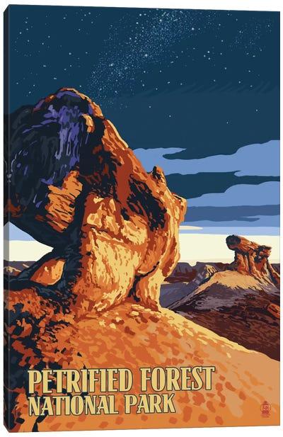 U.S. National Park Service Series: Petrified Forest National Park (Desert At Dusk) Canvas Print #LAN107