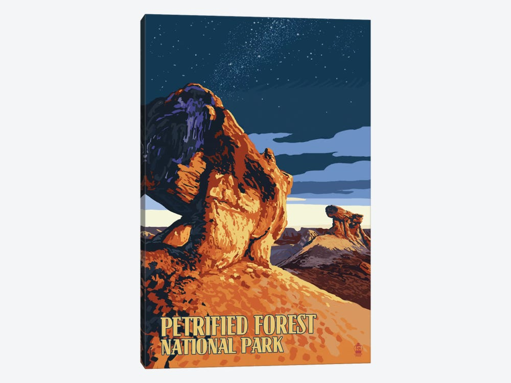 Petrified Forest National Park (Desert At Dusk) by Lantern Press 1-piece Art Print