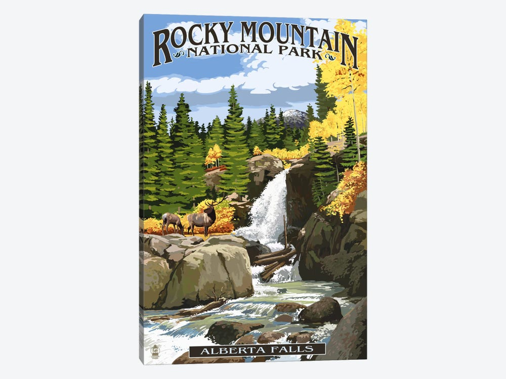 Rocky Mountain National Park (Alberta Falls) 1-piece Canvas Wall Art