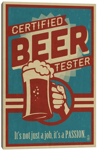 Certified Beer Tester Canvas Print #LAN10