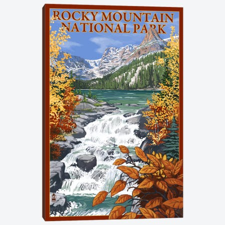 Rocky Mountain National Park (Odessa Lake) Canvas Print #LAN113} by Lantern Press Canvas Print