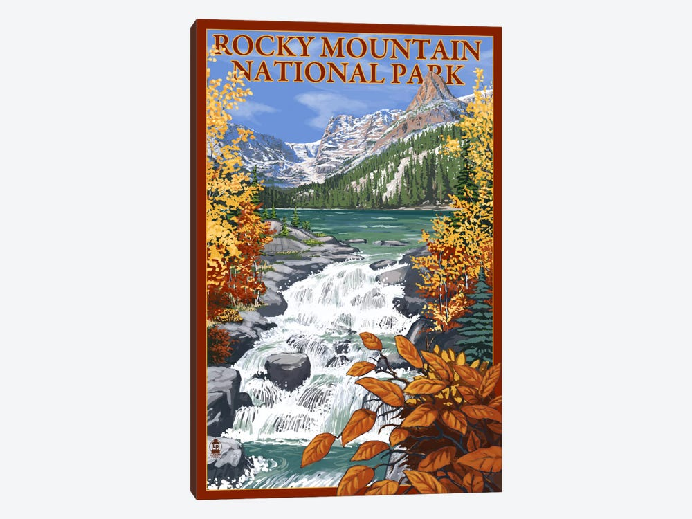 Rocky Mountain National Park (Odessa Lake) by Lantern Press 1-piece Canvas Art