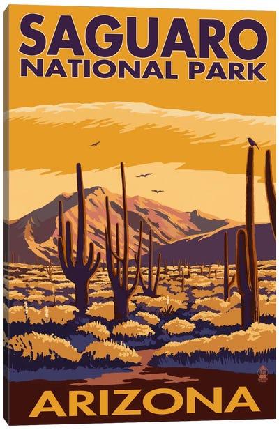 U.S. National Park Service Series: Saguaro National Park (Desert Landscape) Canvas Print #LAN114