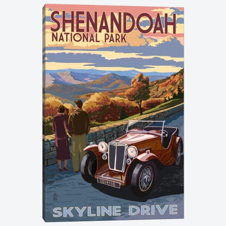 Shenandoah National Park (Skyline Drive) Canvas Print #LAN117} by Lantern Press Canvas Art