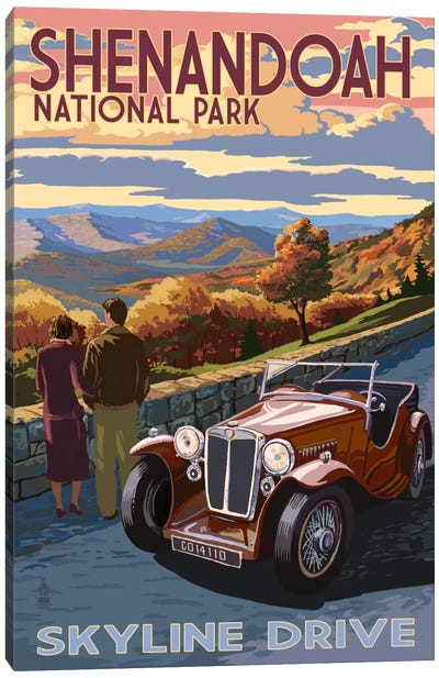 Shenandoah National Park (Skyline Drive) by Lantern Press Canvas Art Print