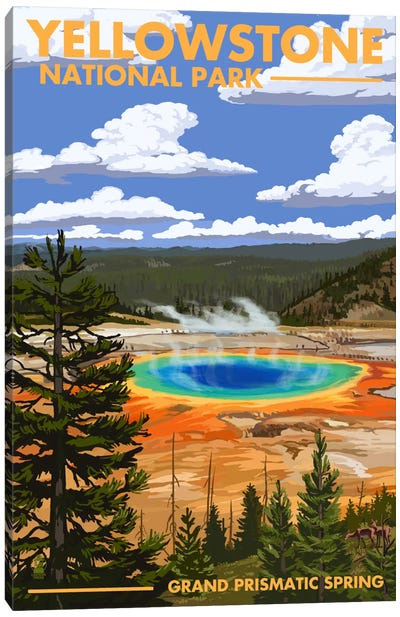 Yellowstone National Park (Grand Prismatic Spring) Canvas Art Print