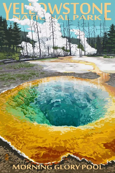 Yellowstone National Park Morning Glory Pool