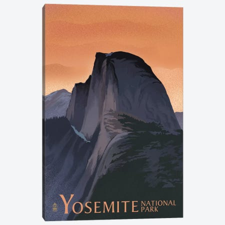 Yosemite National Park (Half Dome) Canvas Print #LAN126} by Lantern Press Art Print