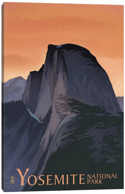 Yosemite National Park (Half Dome) by Lantern Press Canvas Art Print
