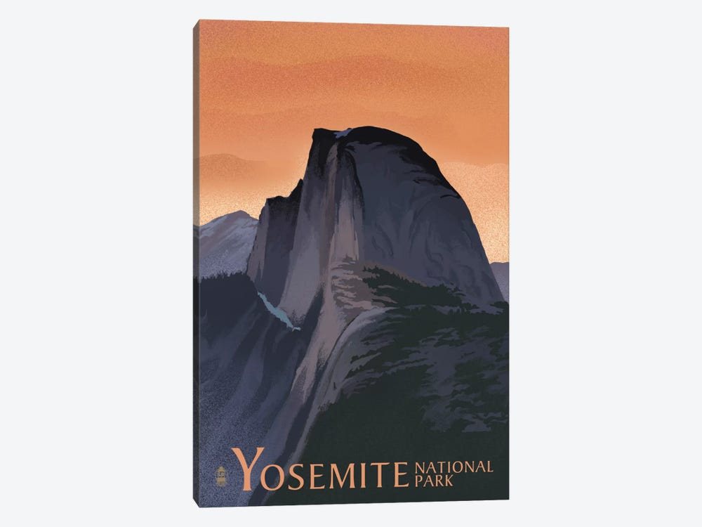 Yosemite National Park (Half Dome) by Lantern Press 1-piece Canvas Wall Art