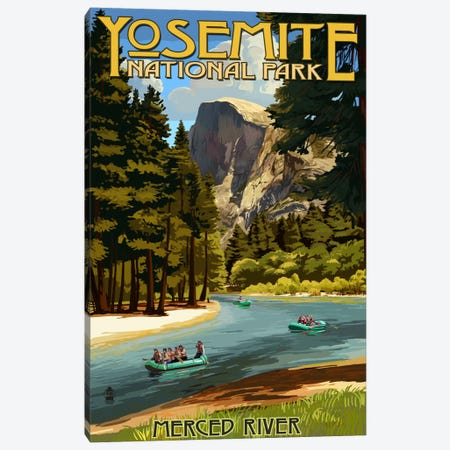 Yosemite National Park (Merced River) Canvas Print #LAN128} by Lantern Press Canvas Art