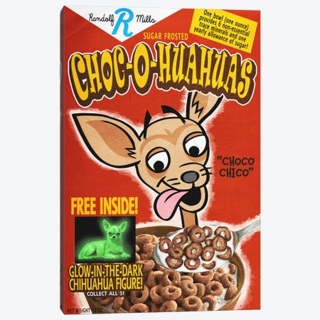 Choc-o-huahuas Canvas Print #LAN12} by Lantern Press Canvas Artwork