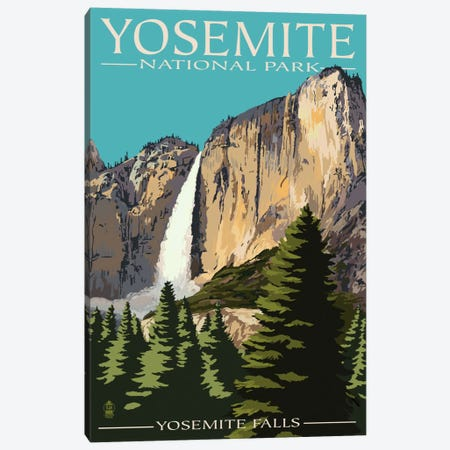 Yosemite National Park (Yosemite Falls II) Canvas Print #LAN131} by Lantern Press Canvas Print