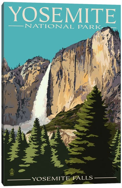 Yosemite National Park (Yosemite Falls II) Canvas Art Print