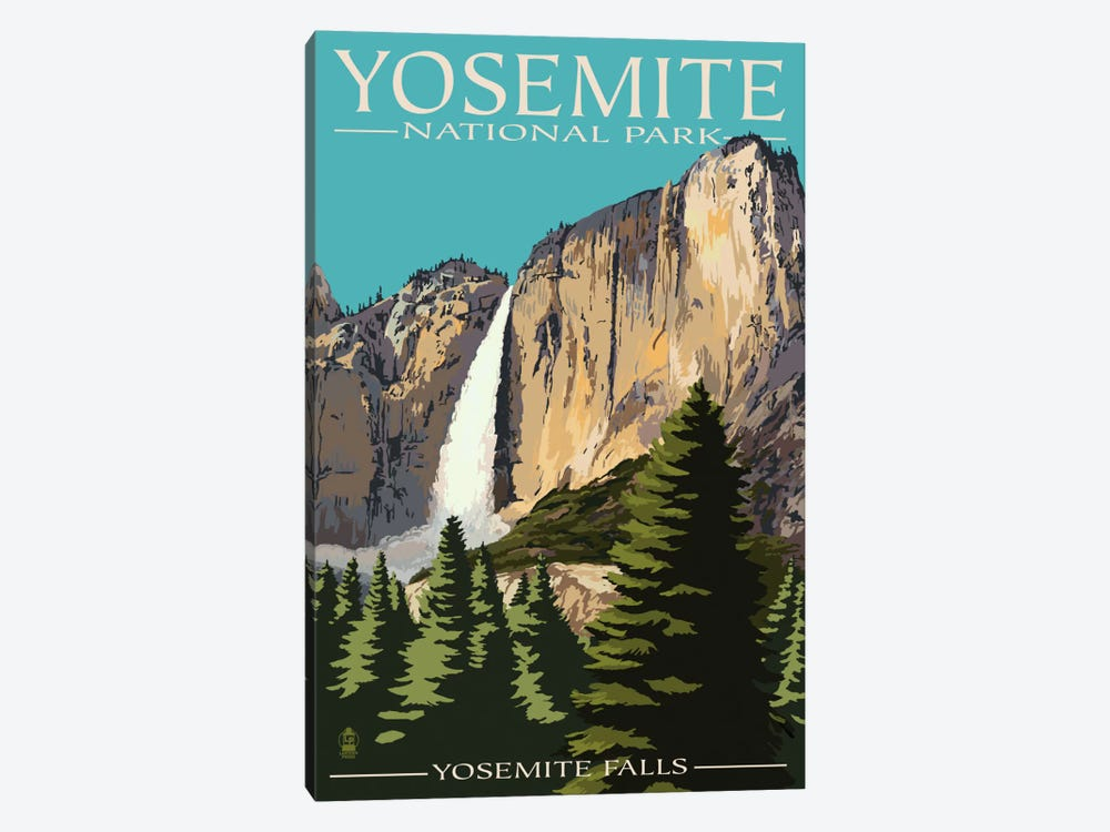 Yosemite National Park (Yosemite Falls II) by Lantern Press 1-piece Canvas Wall Art