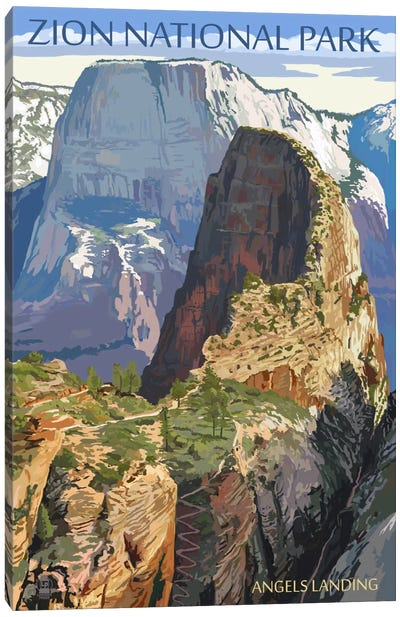 U.S. National Park Service Series: Zion National Park (Angels Landing I) Canvas Print #LAN132