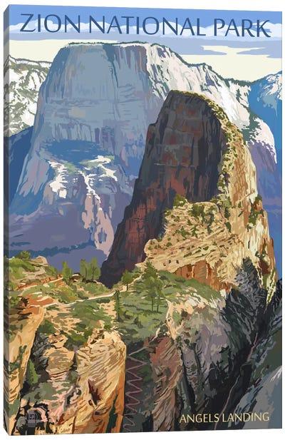 Zion National Park (Angels Landing I) Canvas Art Print